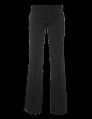 DKNY Wide Leg Wool Blend Black