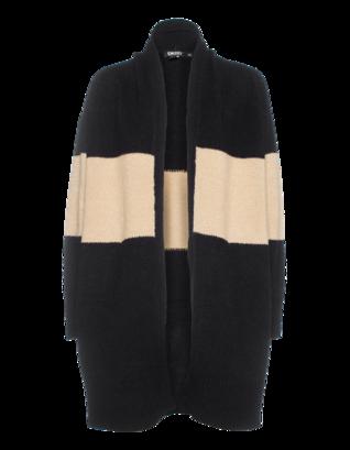 DKNY Wool Blend Camel Black