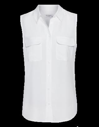 EQUIPMENT Sleeveless Slim Signature Bright White