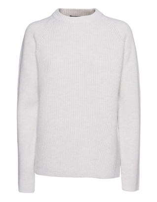 PROENZA SCHOULER Asym Slit Cashmere Knit White