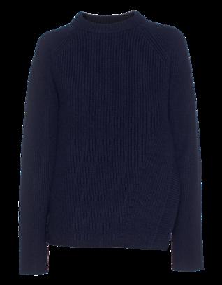 PROENZA SCHOULER Aysm Slit Cashmere Knit Dark Blue