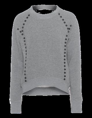 Pam&Gela Studded Crop Back-Cut Grey