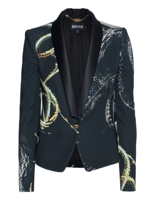 JUST CAVALLI Slim Lapel Snake Black