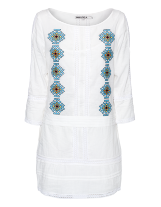 Pam&Gela Embroidered White