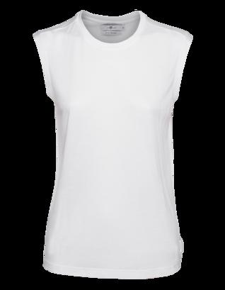GIAMBATTISTA VALLI FOR SEVEN FOR ALL MANKIND Pure Modal Silk White