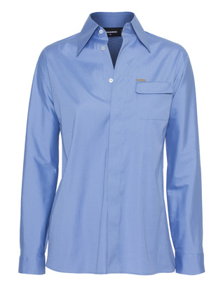 DSQUARED2 Slim Covered Button Blue