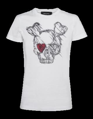 DSQUARED2 Skull Heart Short White