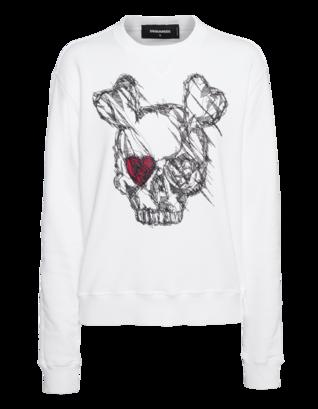DSQUARED2 Skull Heart White