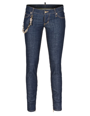 DSQUARED2 Short Crotch Tight Bottom Chain Blue