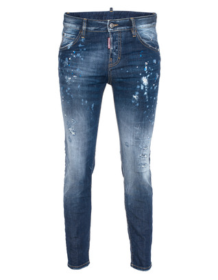 DSQUARED2 Cool Girl Long Crotch Tight Bottom Blue