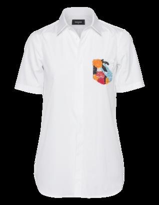 DSQUARED2 Boxy Pocket White