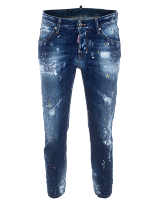 DSQUARED2 Cool Girl Cropped Long Crotch Blue
