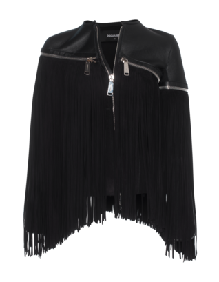 DSQUARED2 Cool Zip Fringe Black
