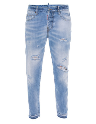 DSQUARED2 Linda Boyfriend Destroyed Blue