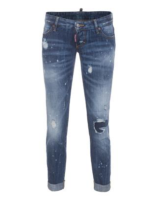 DSQUARED2 Pat Short Crotch Tight Bottom Bleach Blue