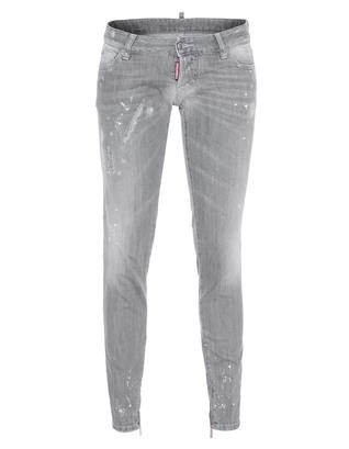 DSQUARED2 Skinny Jean Ankle Zip Grey