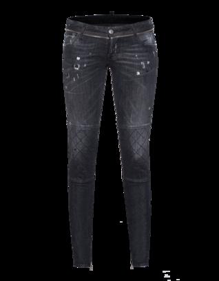 DSQUARED2 Skinny Leg Low Crotch Seam Anthra