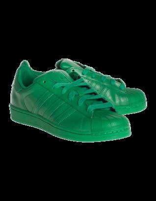 ADIDAS X PHARRELL WILLIAMS Superstar Supercolor Green