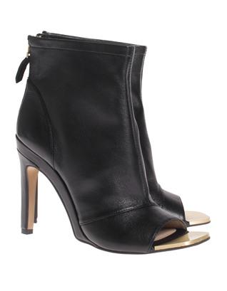 STEFFEN SCHRAUT Stiletto Peep Leather Black