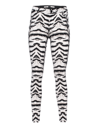GIAMBATTISTA VALLI FOR SEVEN FOR ALL MANKIND High Waist Tiger Black White