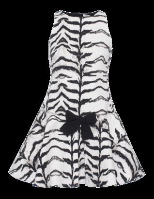 GIAMBATTISTA VALLI FOR SEVEN FOR ALL MANKIND Tiger Bow Flare Black White