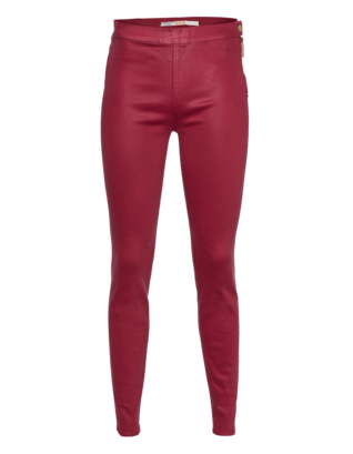 GIAMBATTISTA VALLI FOR SEVEN FOR ALL MANKIND Elegant Zipper Bordeaux Red
