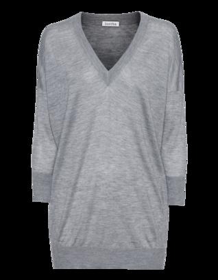 LEETHA Cachemire V 3/4 Medium Grey