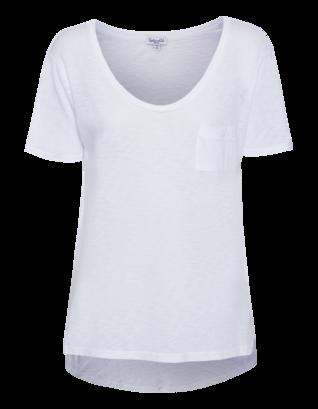 SPLENDID Slub V-Neck One Pocket White