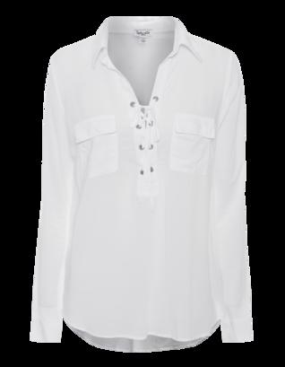SPLENDID Lace Up Clean White