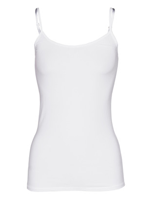 SPLENDID Layers Sheer Stretch Camisole White