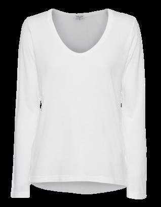 SPLENDID Very Light Jersey Scoop White