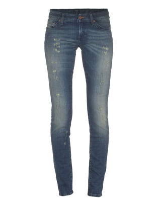 7 FOR ALL MANKIND Olivya The Low Skinny Tainted Indigo