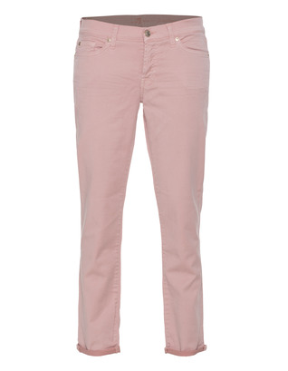 7 FOR ALL MANKIND Josefina Aged Tint Drill Dusty Pink