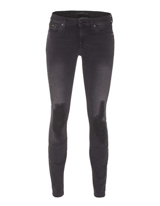 SEVEN FOR ALL MANKIND The Skinny Black Moto