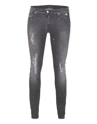 SEVEN FOR ALL MANKIND The Skinny Authentic Grey Distress