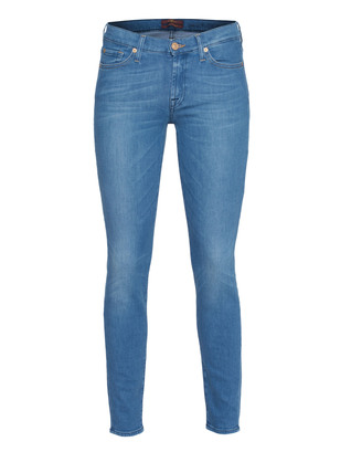 7 FOR ALL MANKIND The Skinny Silk Touch Bright Blue