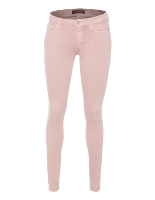 7 FOR ALL MANKIND The Skinny Cropped Dusky Pink