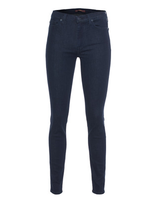 7 FOR ALL MANKIND High Waist Skinny Boston Deep Blue