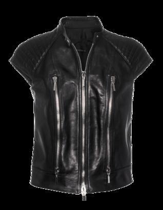 Plein Sud Gilet Biker Black