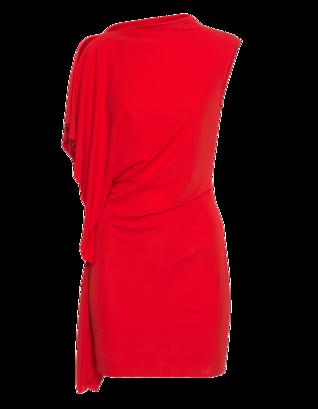 Plein Sud Mini Robe Pan Asymetrique Red