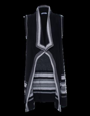 VINCE Cotton Graphic Knit Black