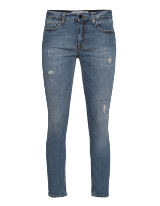 VICTORIA BECKHAM DENIM Ankle Slim Seam Used Blue