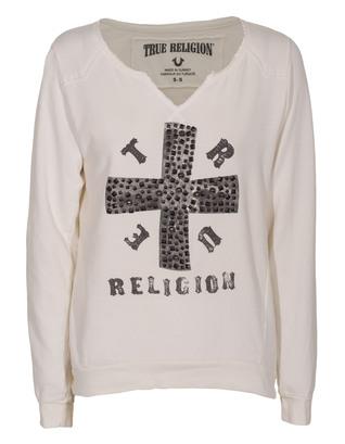 TRUE RELIGION Cross Boxy Sand