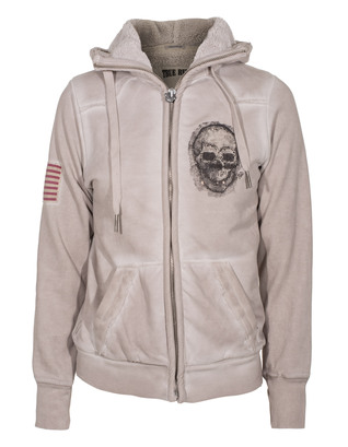 TRUE RELIGION Hooded Skull Beige