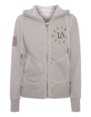 TRUE RELIGION Hooded Zip California Beige