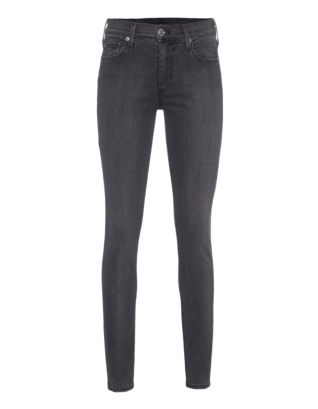 TRUE RELIGION Halle Mid Rise Super Skinny Charcoal