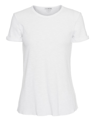 JAMES PERSE Rolled Sleeve Thermal Tee White