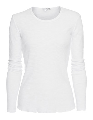 JAMES PERSE Thermal Tee Long White