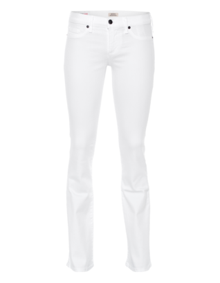 TRUE RELIGION Becca Mid Rise Bootcut  Optic White
