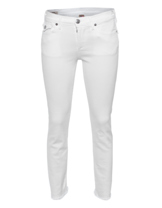 TRUE RELIGION Cora Crop Straight Optic White